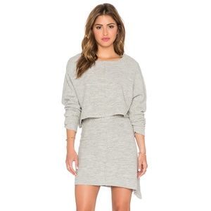 Free People Sweet Jane Sweater Skirt Set in Grey